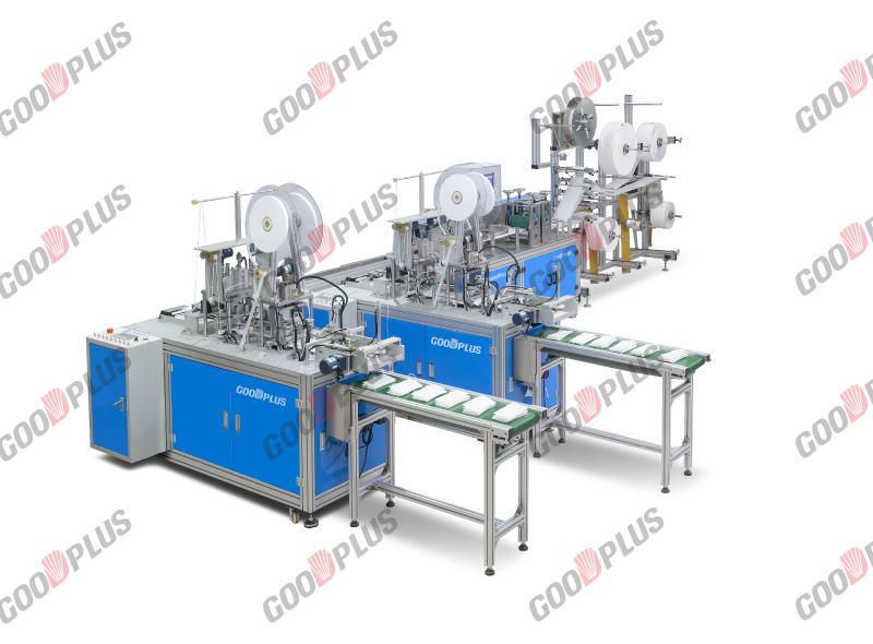 Full Automatic Surgical Mask Making Machine With inner ear loop fix machine